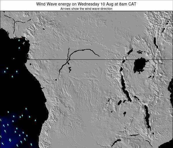 Congo Wind Wave energy on Monday 27 May at 2am CAT