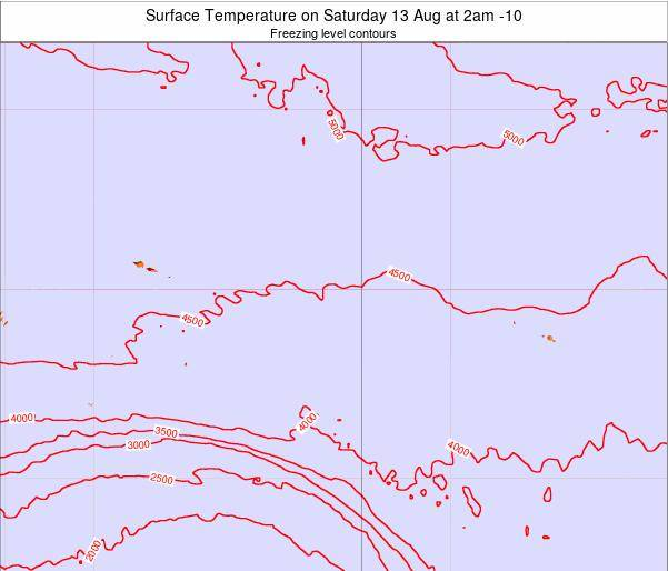 Cook Islands Surface Temperature on Friday 01 Aug at 8pm CKT