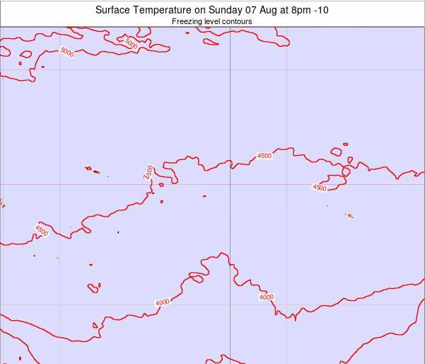 Cook Islands Surface Temperature on Saturday 04 Apr at 8am CKT