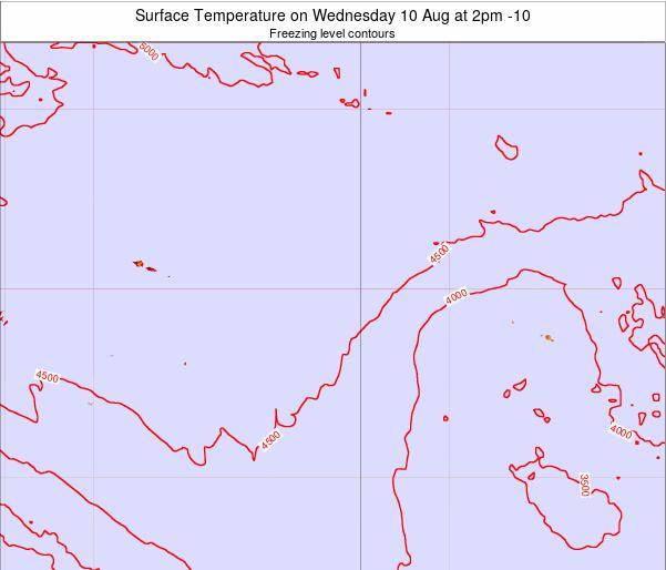 Cook Islands Surface Temperature on Wednesday 30 Apr at 8pm CKT