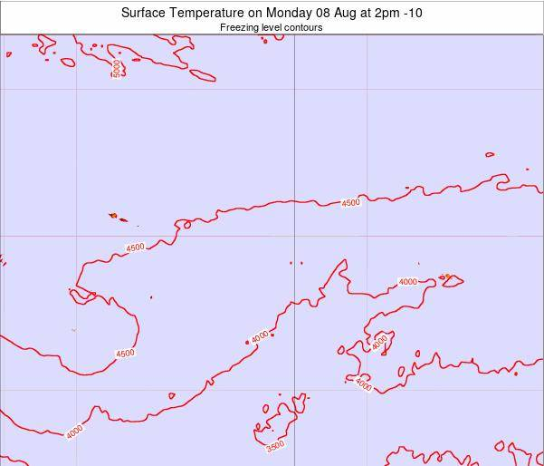 Cook Islands Surface Temperature on Sunday 03 Aug at 2pm CKT