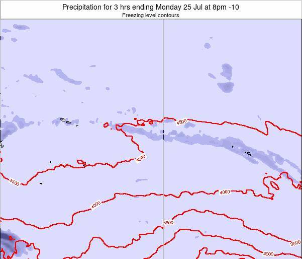 Cook Islands Precipitation for 3 hrs ending Friday 23 Mar at 8pm CKT map