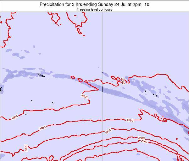 Cook Islands Precipitation for 3 hrs ending Saturday 17 Aug at 2am CKT map