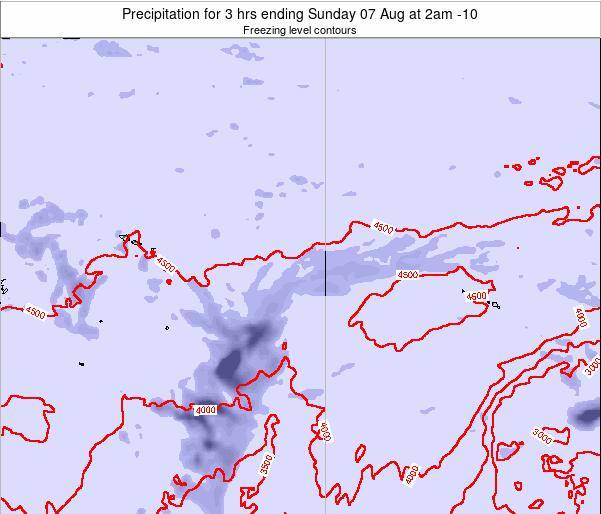 Cook Islands Precipitation for 3 hrs ending Friday 24 May at 2am CKT
