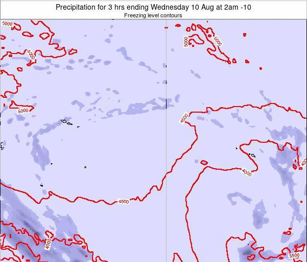 Cook Islands Precipitation for 3 hrs ending Thursday 20 Dec at 2pm CKT map