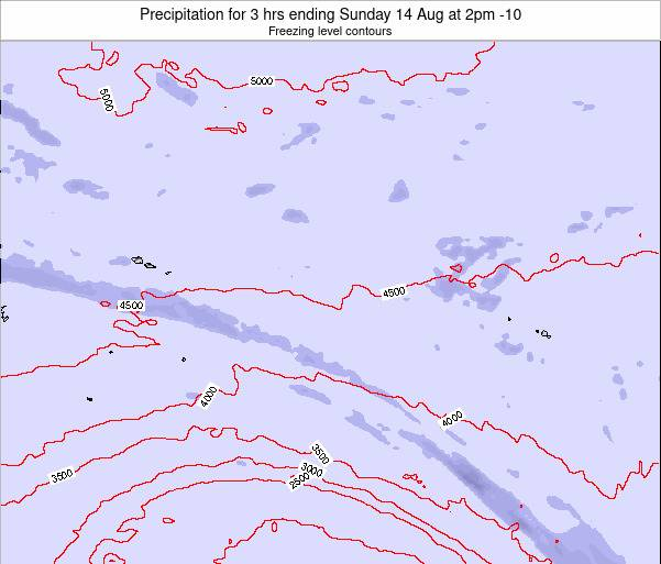 Cook Islands Precipitation for 3 hrs ending Saturday 02 May at 8am CKT