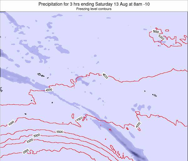 Cook Islands Precipitation for 3 hrs ending Sunday 03 Aug at 2am CKT