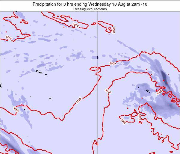 Cook Islands Precipitation for 3 hrs ending Saturday 25 May at 8am CKT