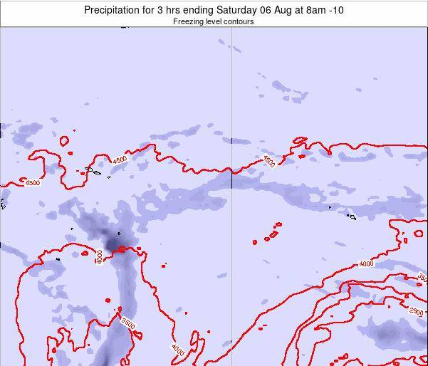 Cook Islands Precipitation for 3 hrs ending Wednesday 22 May at 8am CKT