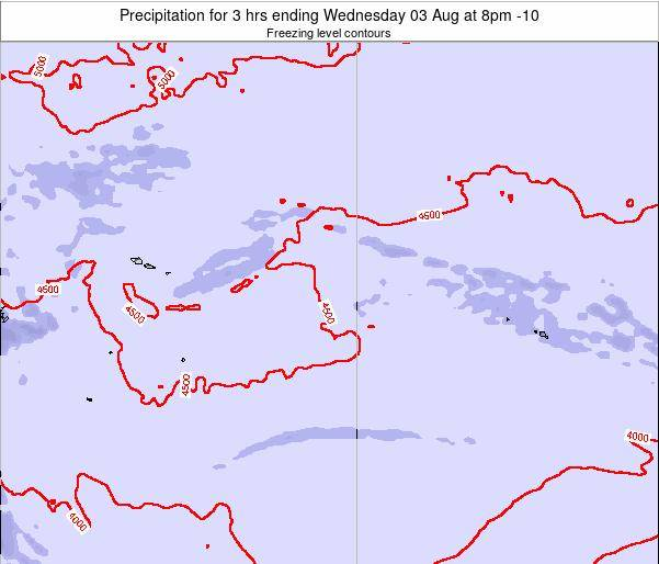 Cook Islands Precipitation for 3 hrs ending Wednesday 17 Oct at 2am CKT map