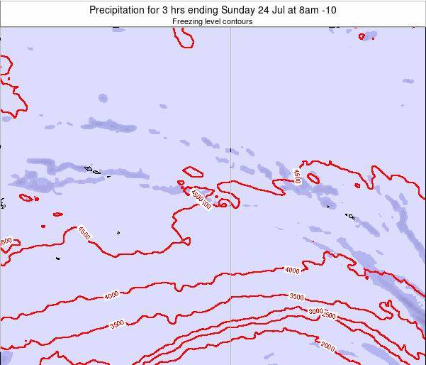 Cook Islands Precipitation for 3 hrs ending Thursday 24 Apr at 2pm CKT