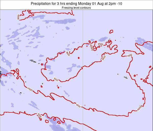 Cook Islands Precipitation for 3 hrs ending Friday 24 May at 2pm CKT
