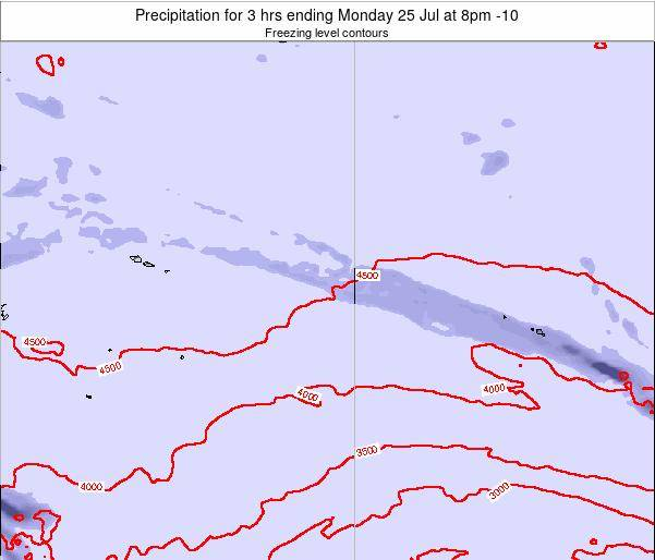 Cook Islands Precipitation for 3 hrs ending Sunday 26 May at 2pm CKT