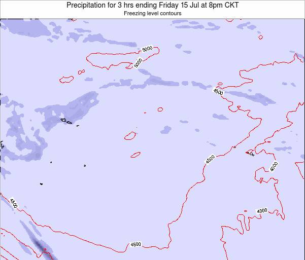 Cook Islands Precipitation for 3 hrs ending Saturday 01 Nov at 2am CKT