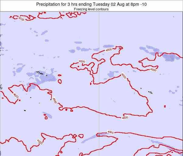 Cook Islands Precipitation for 3 hrs ending Saturday 14 Dec at 2pm CKT