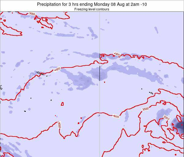 Cook Islands Precipitation for 3 hrs ending Wednesday 22 May at 2pm CKT
