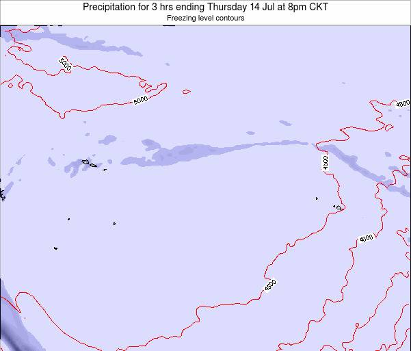 Cook Islands Precipitation for 3 hrs ending Tuesday 21 May at 8am CKT