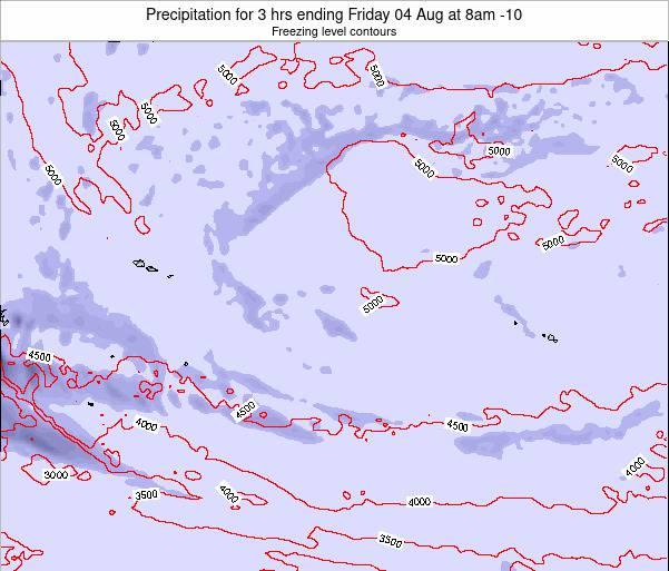 Cook Islands Precipitation for 3 hrs ending Monday 23 Oct at 8pm CKT