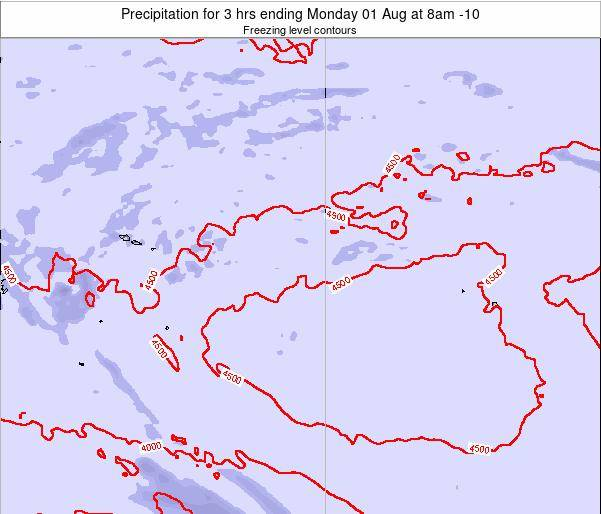 Cook Islands Precipitation for 3 hrs ending Tuesday 11 Mar at 2am CKT