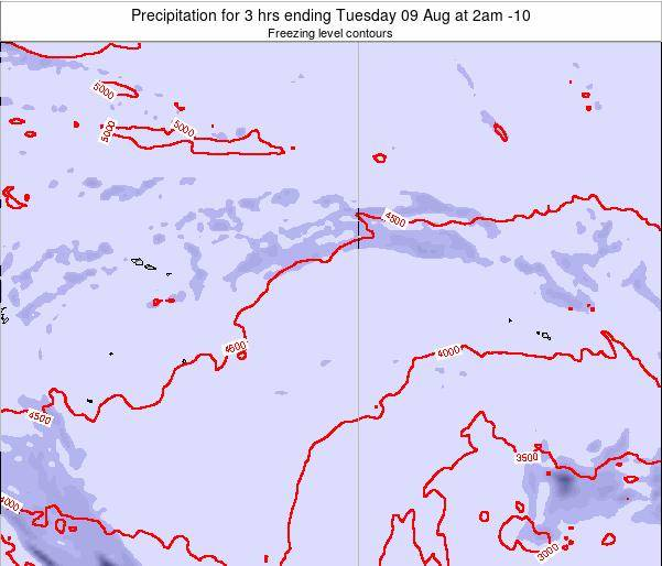 Cook Islands Precipitation for 3 hrs ending Friday 13 Dec at 2pm CKT