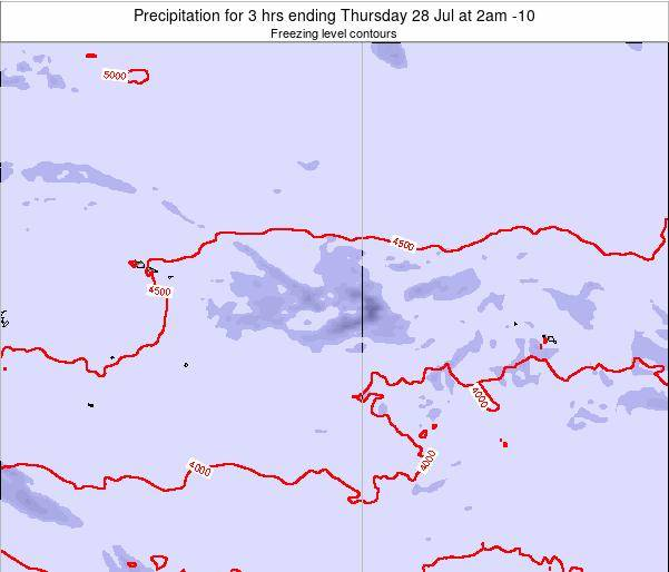 Cook Islands Precipitation for 3 hrs ending Wednesday 23 Apr at 8pm CKT