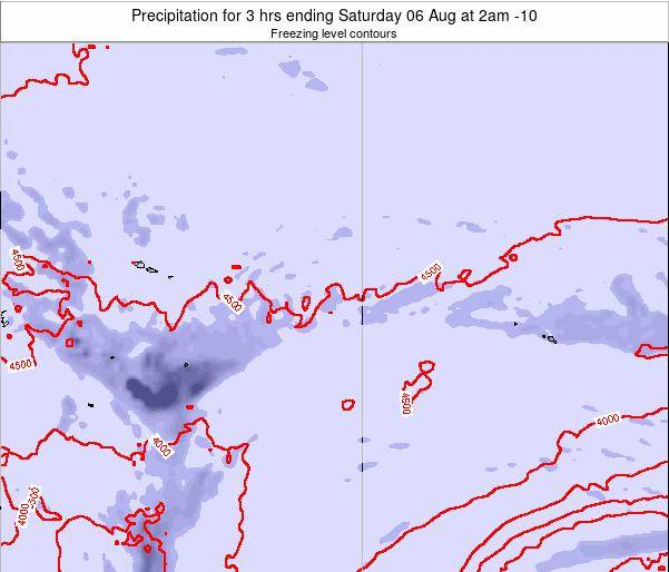 Cook Islands Precipitation for 3 hrs ending Friday 21 Jun at 8pm CKT