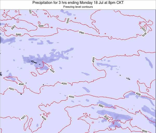 Cook Islands Precipitation for 3 hrs ending Monday 04 Aug at 2pm CKT