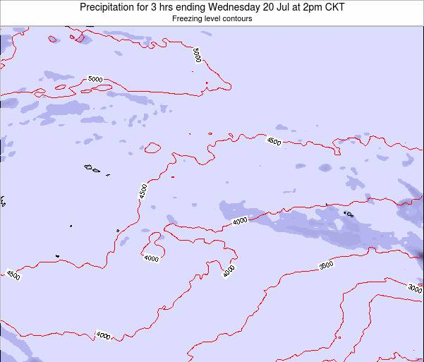 Cook Islands Precipitation for 3 hrs ending Saturday 25 May at 8pm CKT