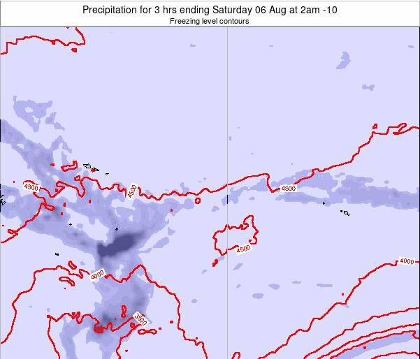 Cook Islands Precipitation for 3 hrs ending Wednesday 21 Mar at 2am CKT map