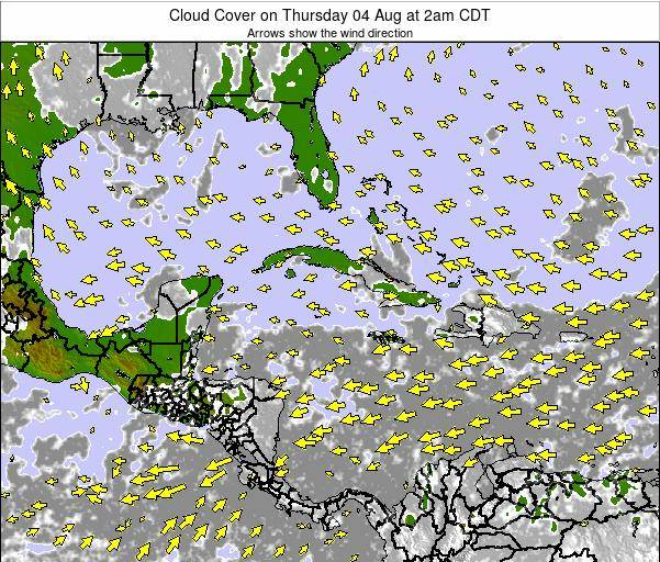 The Bahamas Cloud Cover on Sunday 16 Mar at 8pm CDT
