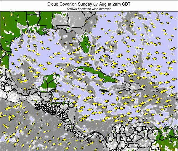 The Bahamas Cloud Cover on Sunday 15 Dec at 7pm CST