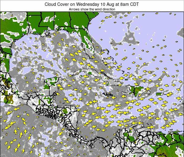 The Bahamas Cloud Cover on Sunday 03 Aug at 8pm CDT