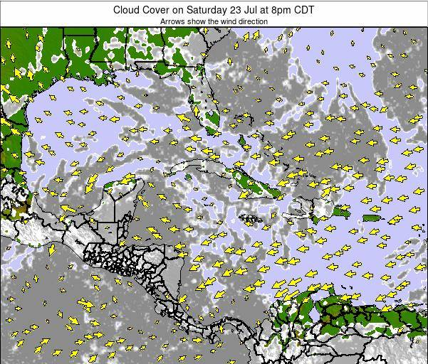 The Bahamas Cloud Cover on Saturday 15 Mar at 8pm CDT