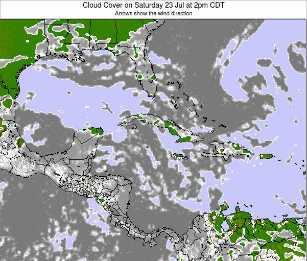 The Bahamas Cloud Cover on Thursday 01 Sep at 8pm CDT