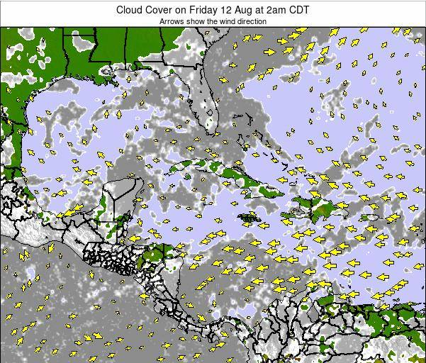 The Bahamas Cloud Cover on Thursday 01 May at 2am CDT