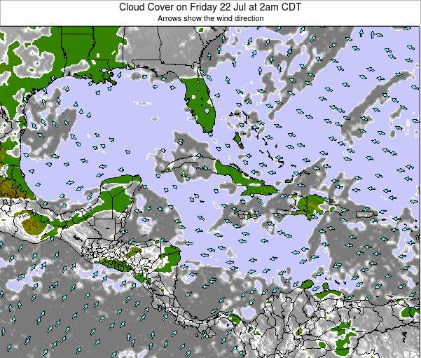 The Bahamas Cloud Cover on Saturday 01 Jun at 8am CDT