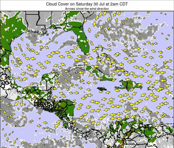 The Bahamas Cloud Cover on Sunday 09 Mar at 2pm CDT