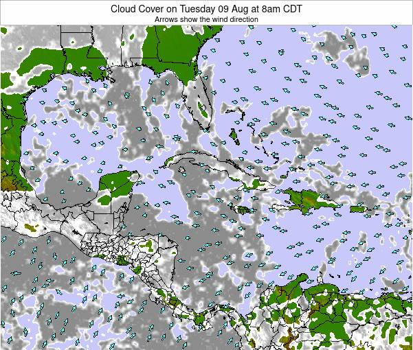 The Bahamas Cloud Cover on Friday 18 Apr at 2am CDT