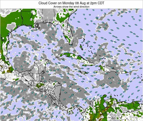 The Bahamas Cloud Cover on Thursday 26 May at 2pm CDT