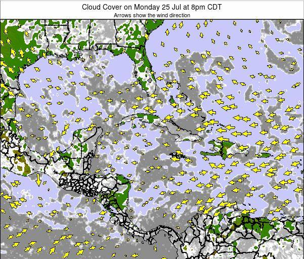 The Bahamas Cloud Cover on Wednesday 26 Nov at 7am CST