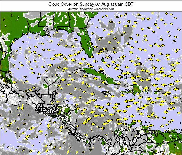 Jamaica Cloud Cover on Sunday 26 May at 2pm CDT