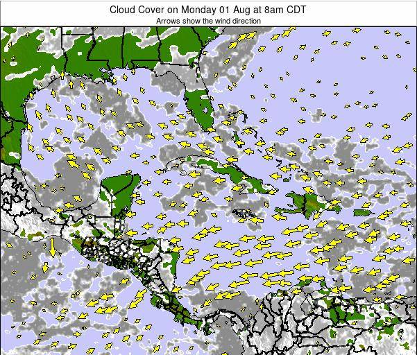 The Bahamas Cloud Cover on Sunday 26 May at 8am CDT