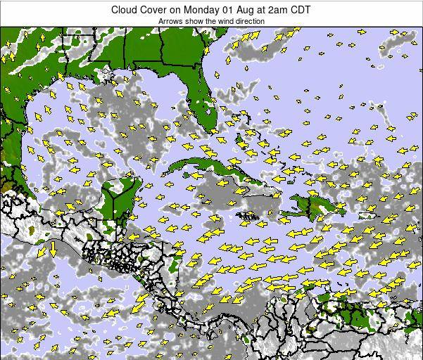Cayman Islands Cloud Cover on Saturday 21 Oct at 8am CDT