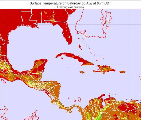 The Bahamas Surface Temperature on Monday 20 May at 2am CDT map
