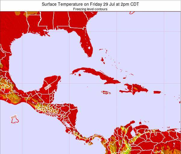 Jamaica Surface Temperature on Sunday 26 May at 2am CDT