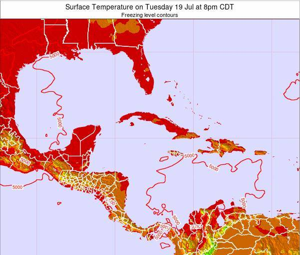 Jamaica Surface Temperature on Friday 07 Mar at 1pm CST