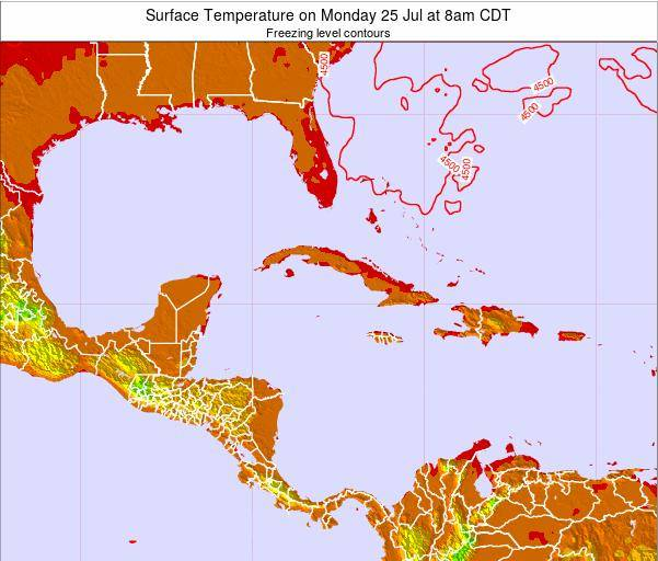 Jamaica Surface Temperature on Thursday 24 Jul at 2am CDT