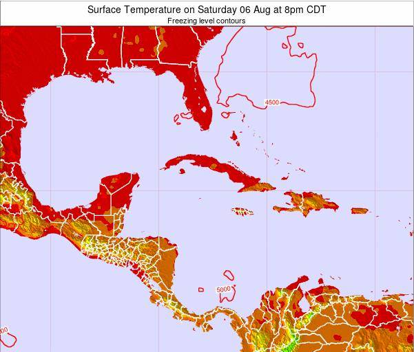 Jamaica Surface Temperature on Sunday 26 May at 8am CDT