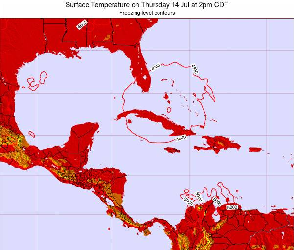 Cayman Islands Surface Temperature on Monday 02 Feb at 7pm CST
