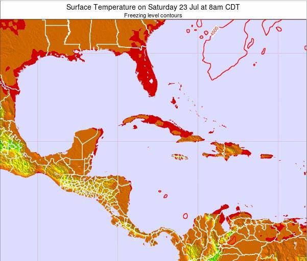 Cayman Islands Surface Temperature on Thursday 20 Jun at 8pm CDT
